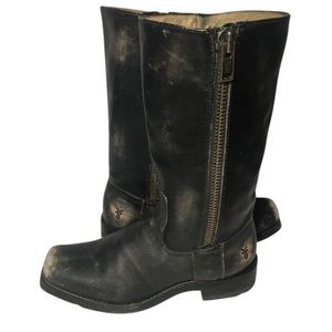 Frye Distressed Western Brown Boots